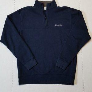 Columbia Men's Navy S Mock neck 1/4 Zip Pullover